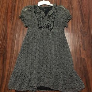 Shift ruffle lined dress